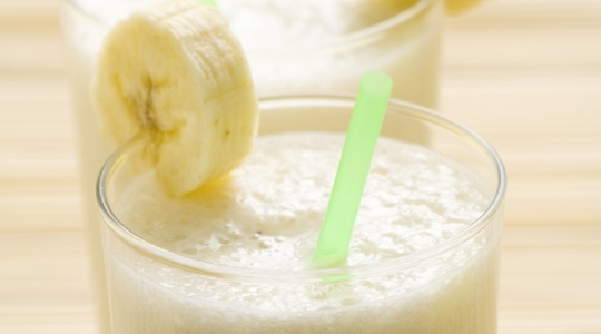 Banana and soya milkshake