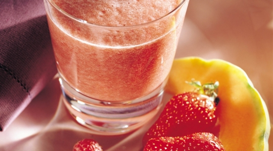 Smoothie fragola, lampone e melone